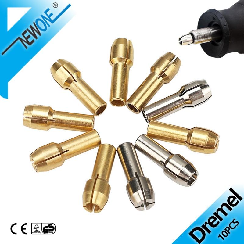 10 sztuk elektronarzędzie Mini wiertarka mosiężna tuleja zaciskowa do narzędzia obrotowego Dremel akcesoria Dremel maszyna do polerowania grawer elektryczny