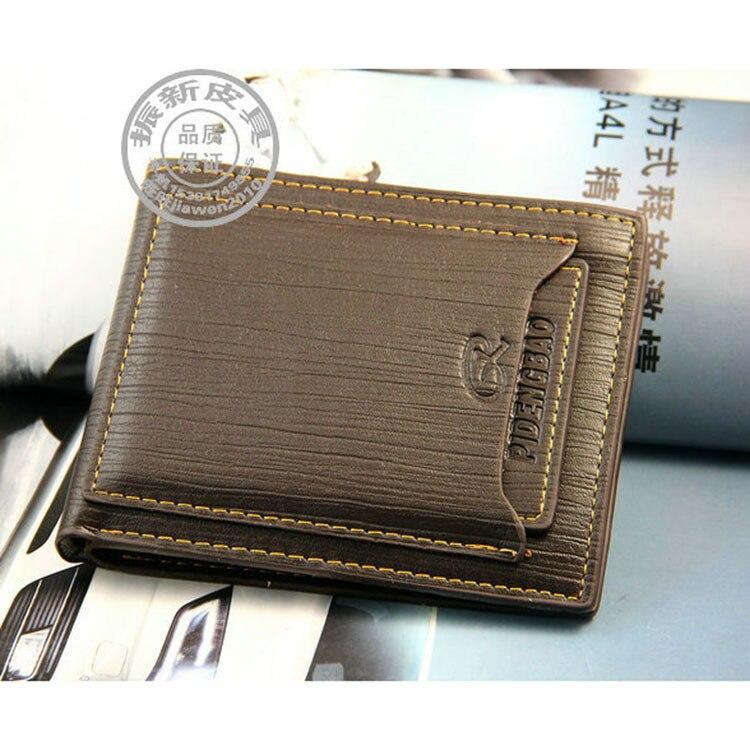 Fashion Short Men Wallet Leather Brand Men's Coin Purse Vintage Genuine Leather Credit Card Purse Wallets for Men Money Bag