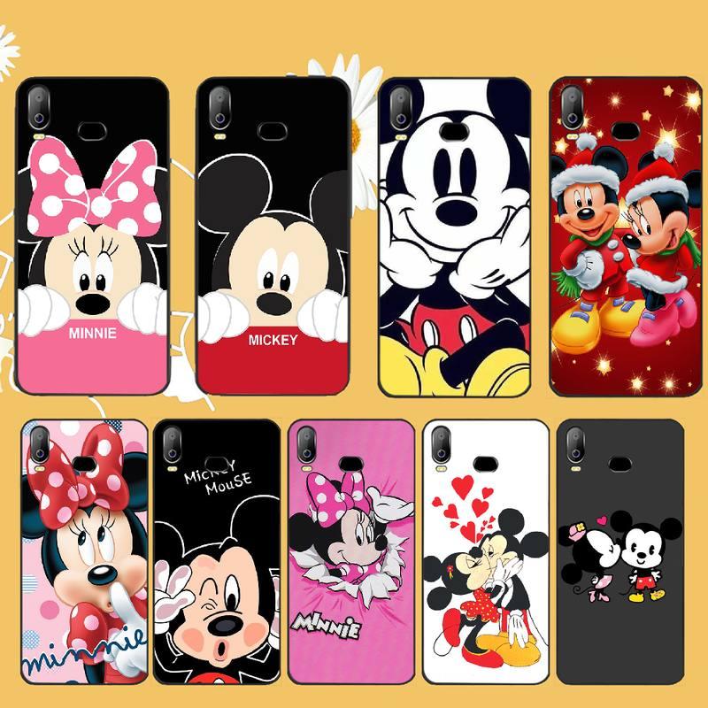 PENGHUWAN Mickey Minnie Mouse Cover Black Soft Shell Phone Case For Samsung A10 A20 A30 A40 A50 A70 A71 A51 A6 A8 2018