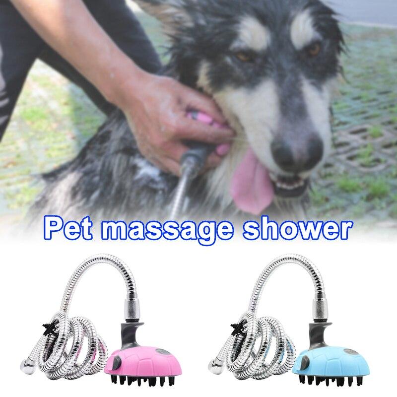 Multifuncional cão gato banho chuveiro pulverizador de lavagem mais limpo massagem shampoo cão chuveiro mangueira pet ferramenta banho ud88