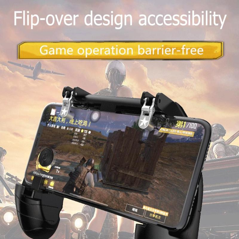 1PC K11 Wireless Bluetooth Gamepad Joystick Remote Control Controller L1R1 Fire Shooter Button For IOS/Android PUBG Game Handle