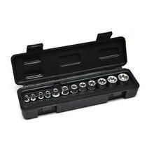 """12 stücke E4-E20 Torx Buchse Set 1/4 """"& 3/8"""" Schlüssel Kopf CR-V E-typ Spanner Allen Kopf 3/8 Universal Steckdosen Werkzeug Auto Reparatur Werkzeuge"""