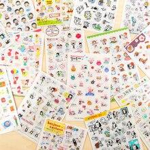 Bonito diy dos desenhos animados adesivos criativo pvc transparente mão conta adesivos decorativos foto escola papelaria
