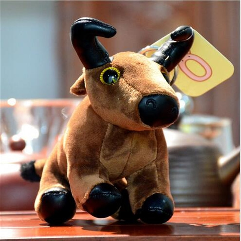 1PCS Symbol Of 2021 Toys Year of The Mascot Cartoon Simulation Cow Pendant Plush Toy For Doll Childrens Ornaments 14CM