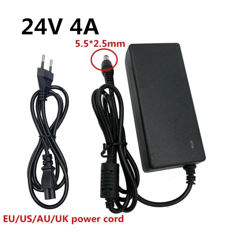 24V 4A Adaptador AC DC fuente de alimentación conmutada Universal Adaptador para...