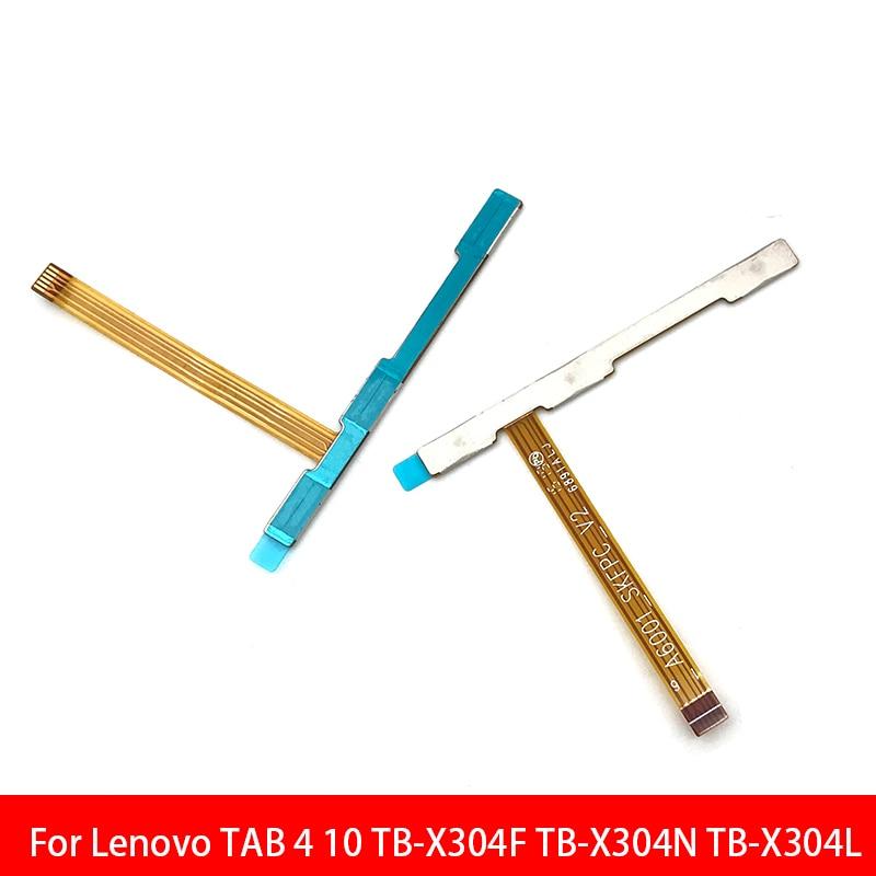 10 unids/lote de fuera de volumen lado botón clave Flex Cable para Lenovo TAB 4 10 TB-X304F TB-X304N TB-X304L piezas de repuesto