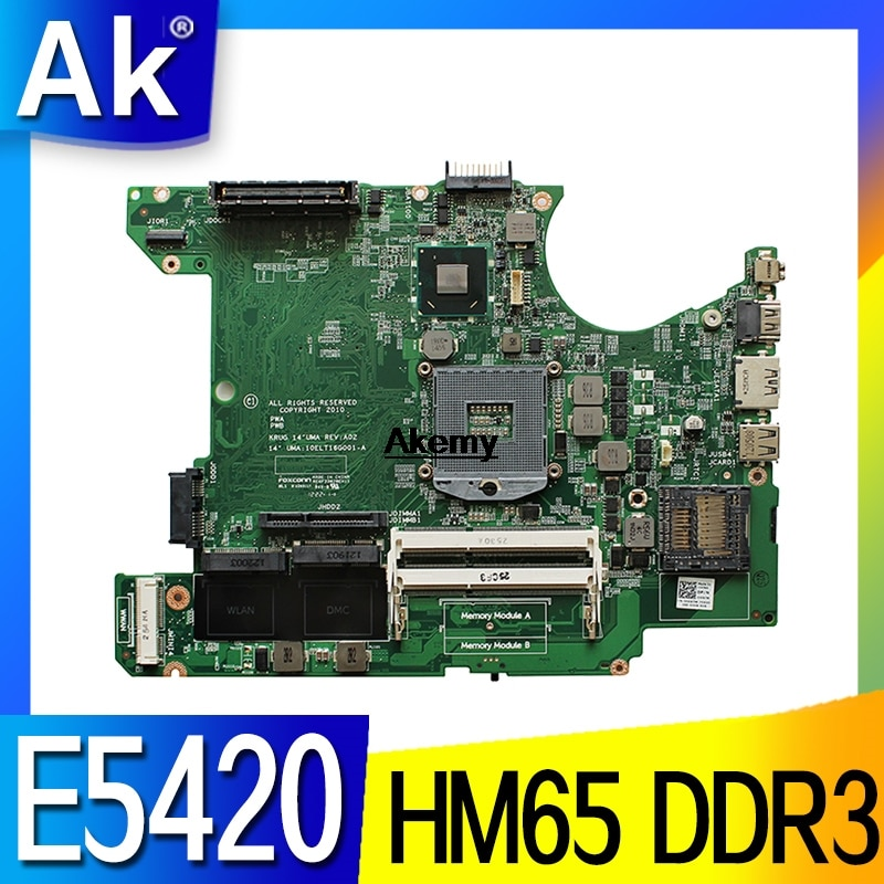 006X7M para For DELL latitude E5420 portátil placa base 006X7M HM65 DDR3 PGA988B 10ELT16G001-A