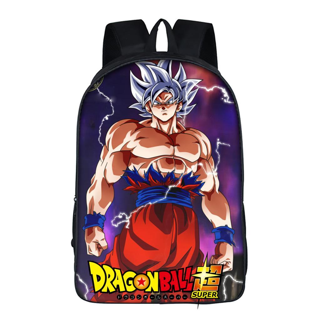 Anime dragon ball mochilas para adolescentes filho goku sacos de escola meninos 3d super saiyan mochilas ultra instinto goku z vegeta sacos