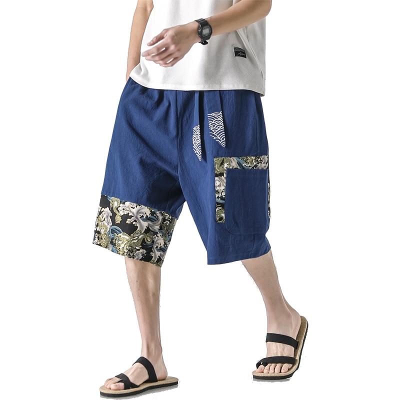Korea 2020 Summer Men Cargo Shorts Casual Multi Pocket Short Pants Hip Hop Streetwear Punk ROCK Trouers