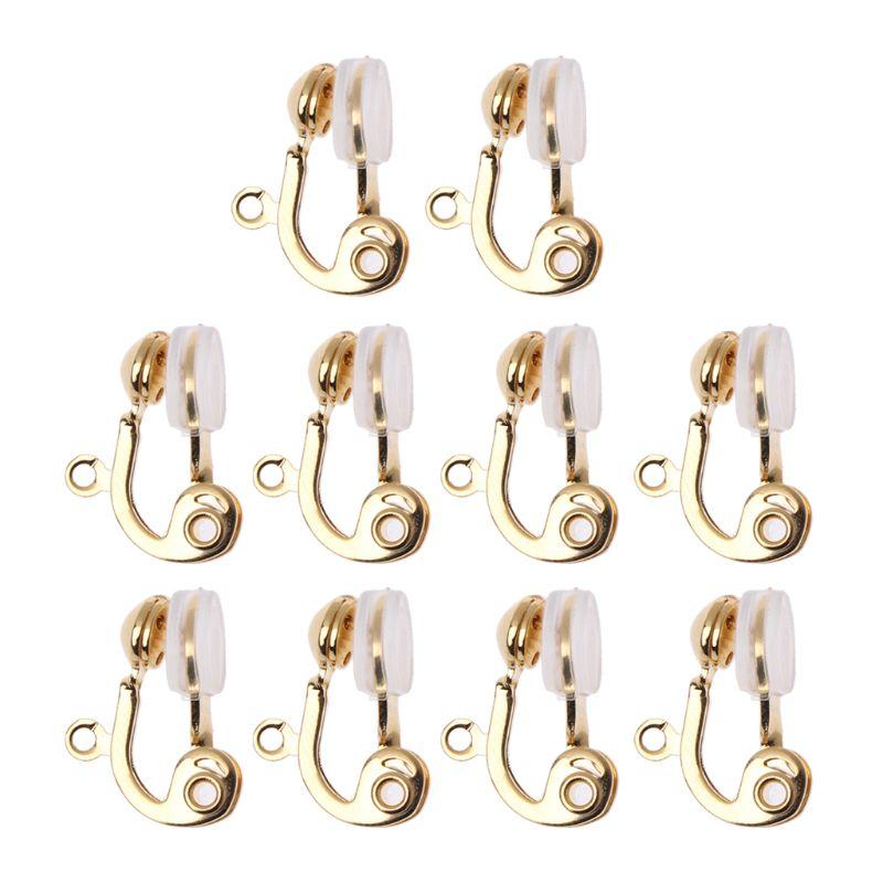 10 unids/set Clip-on convertidor de pendientes no perforados Aro para la oreja con comodidad pendiente cojín herramienta de fabricación Accesorios