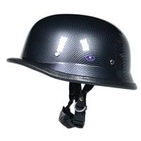 wwii german style vintage motorcycle helmet pu leather half face cafe racer helmet man women summer casco moto dot cholo style