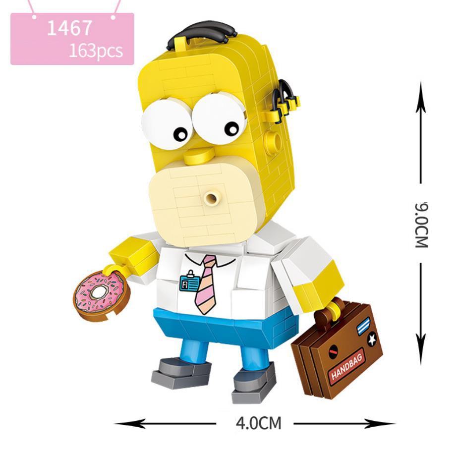 LOZ Lovely america cartoon Simpson mini diamond building block assemble bricks educaal toys for children gifts