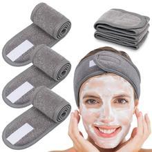 Diadema de maquillaje para mujer, accesorio deportivo de color blanco, ajustable, para Yoga, con sujetador, accesorios para el cabello, 3 uds.