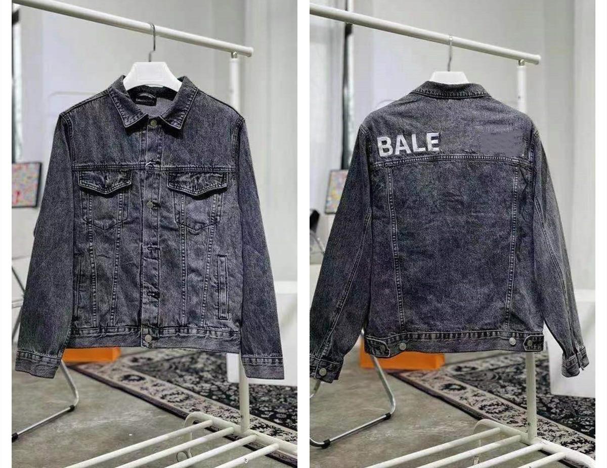 2021 Paris Spring and summer Fashion Hip Hop Denim Jacket Male Cowboy Ripped Hole European Size S~XL 146