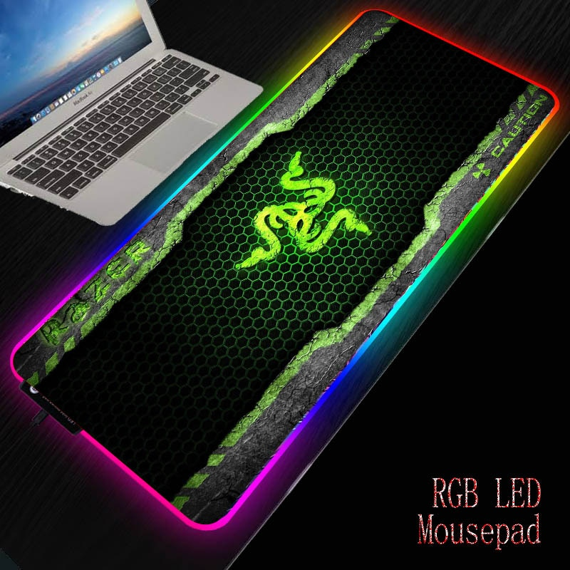 Razer-لوحة ماوس RGB مع منافذ USB ، لوحة ألعاب LED ، مقاومة للماء ، غير قابلة للانزلاق ، قاعدة مطاطية ، لوحة مفاتيح كبيرة XXL