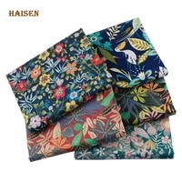 floral series printed twill fabric cloth for diy sewing girlwomens quilting bedsheet clothes skirt textile material half meter