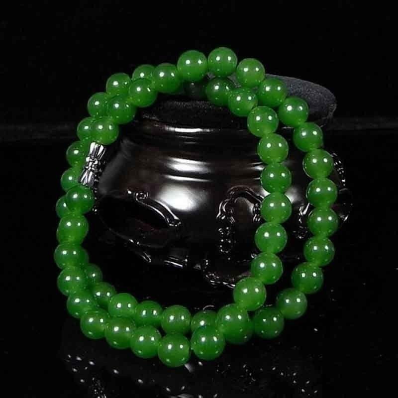 6-10mm bonito artesanato chinês 100% jade natural verde colares ite yoga contas de pedra preciosa mulher presente jóias