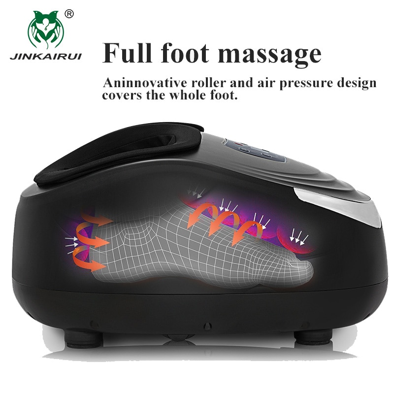 Jinkairui Kneading Air Compression Electric Foot Massage Machine For Health Care Infrared With Heating and Therapy Anti-stress enlarge