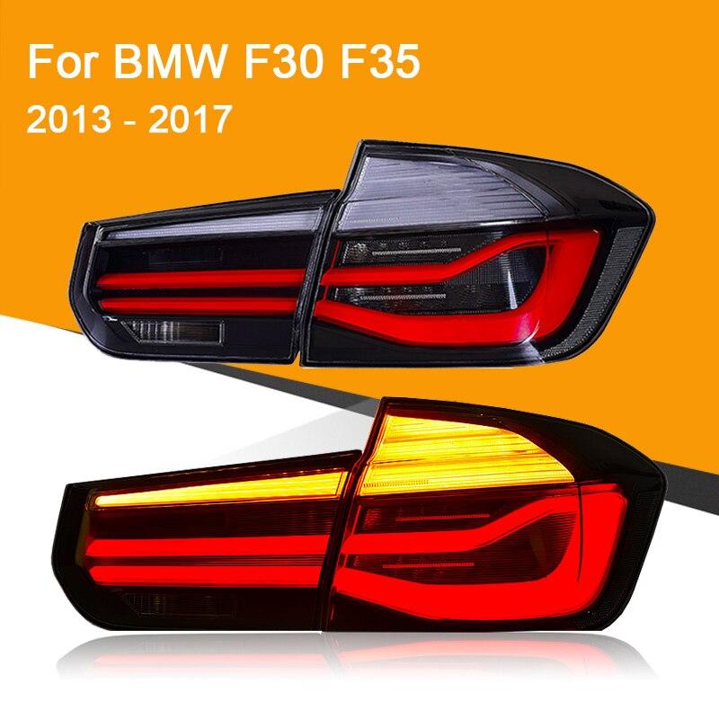 Luz trasera LED para BMW F30 F35 2013 2014 2015 2016 2017 luz trasera LED roja ahumada negra luz de freno de señal de giro Luz de marcha atrás