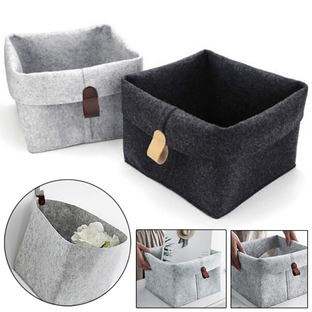 Корзина для хранения войлока чайный столик для гостиной черный серый корзина для хранения мелочей войлочная коробка для хранения носков дл...