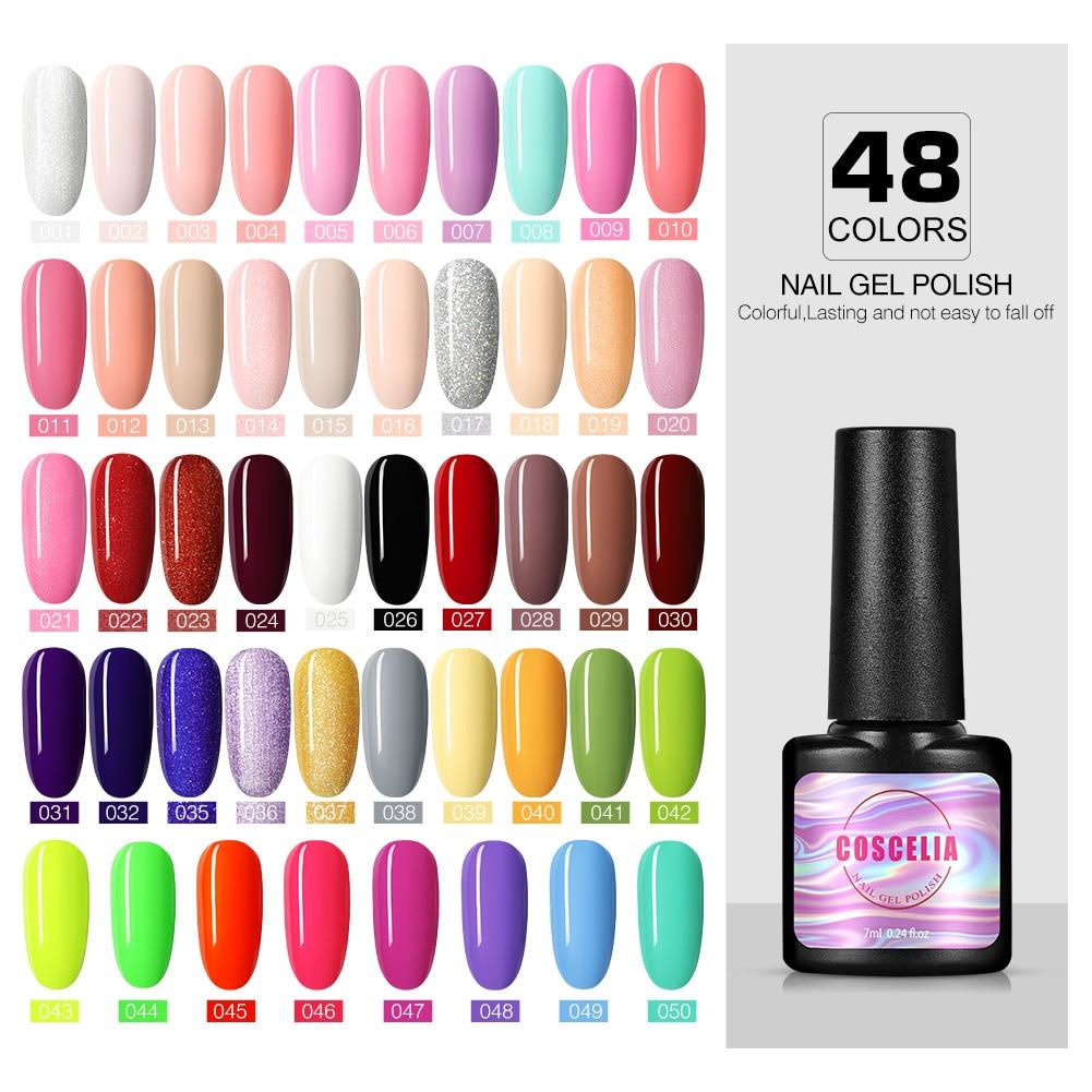 COSCELIA Gel Nail Polish 8ML Soak Off Semi Permanant UV LED Gel For Nail Art Manicure Tools Varnish Gel Nail Polish Hybrid Nails