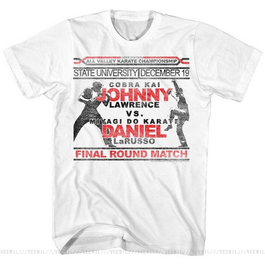T-Shirt homme humoristique, karaté enfant, film officiel Daniel LaRusso Mr Miyagi, tailles SM 5XL, 2020