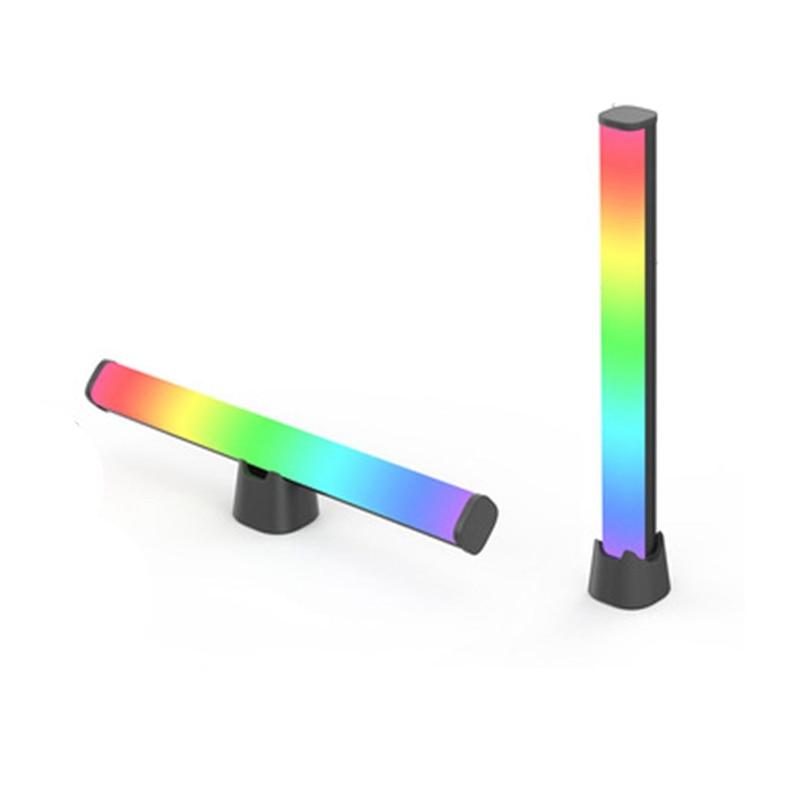 التطبيق إضاءة ذكية القضبان ، RGBIC الذكية أشعة إضاءة ليد مع 10 وسائط المشهد وأوضاع الموسيقى ، بلوتوث لون ضوء بار بوي هدية
