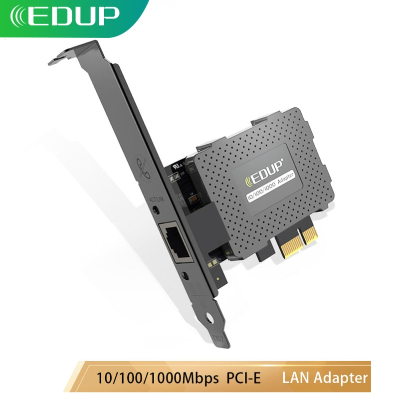 EDUP Ethernet Gigabit LAN Adapter Protective Cover 10/100/1000Mbps Network Card PCI-E RJ45 Converter Wake On Function for PC pci network card realtek 8169 10 100 1000mbps gigabit ethernet lan card lan adapter ethernet adapter for pc laptop