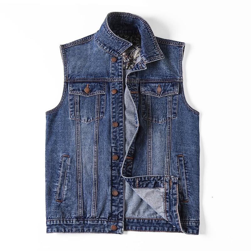 الرجال سترة جينز سترة كبيرة الحجم 6XL حجم كبير 7XL ملابس الصيف موضة صدرية الذكور عادية كبيرة الحجم الجينز سترة الرجال