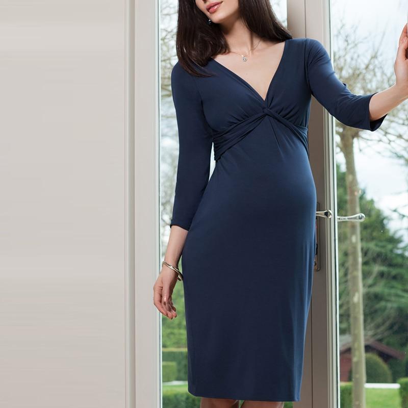 Vestidos de embarazo Otoño de talla grande vestido de diseñador para mujeres embarazadas ropa de embarazo para fotografía zhangerschaps jurken