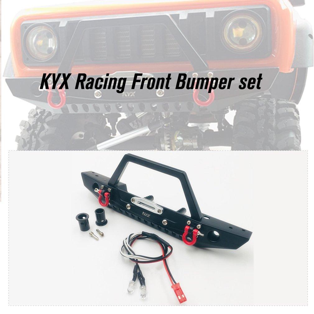 KYX Racing CNC Alloy Front Bumper set Upgrades Parts for Traxxas TRX-4 Trx4 Redcat Gen8 Scout II Accessories