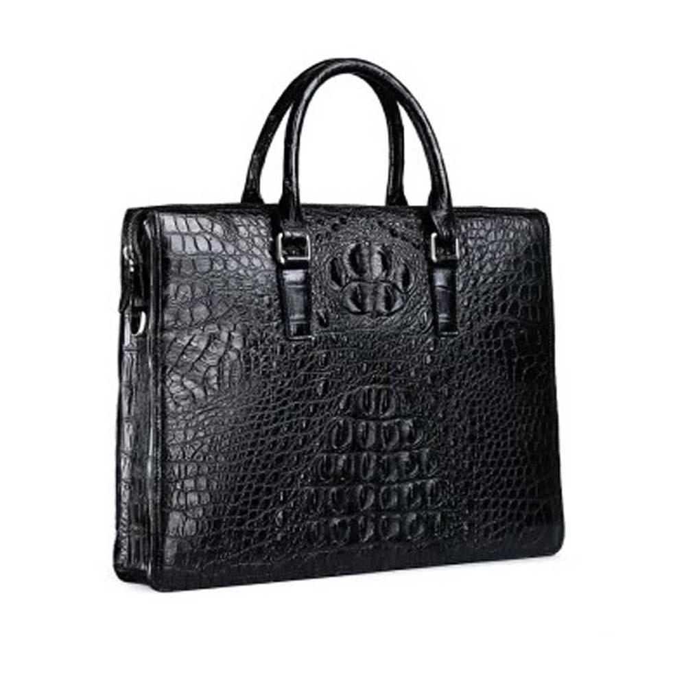 fasiqi crocodile men handbag casual one-shoulder bag fashion cross-bag men crocodile bag men business briefcase cross-section