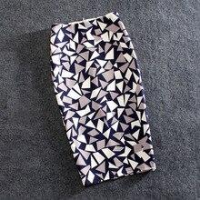 Frauen Röcke Druck Blumen Mode Bleistift Rock Casual Röcke Plus Größe Faldas Mujer Jupe Femme