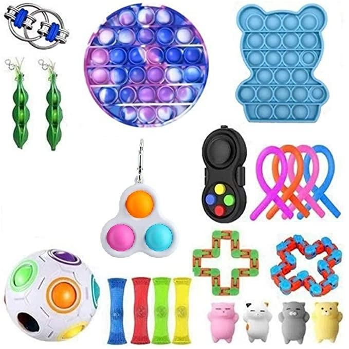 Fidget Toys Anti Stress Set Stretchy Strings Gift Pack Adults Children Squishy Sensory Antistress Relief Figet Toys