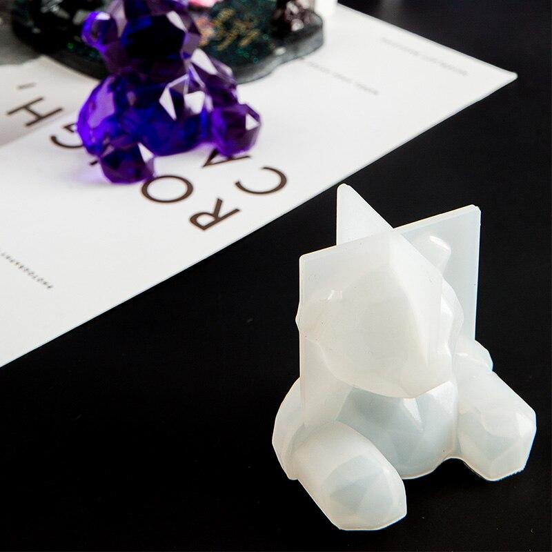 3D силиконовая форма «Медведь» «сделай сам» геометрическая форма стерео медведь зеркальная силиконовая форма декоративный орнамент форма ...