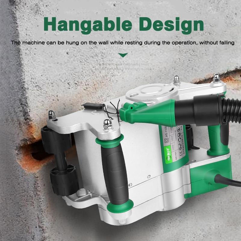 1 ud. Máquina Industrial de corte de pared 25/1600r 35MM/min máquina de corte de ranura de la pared 1100W máquina de ranura de línea 220V