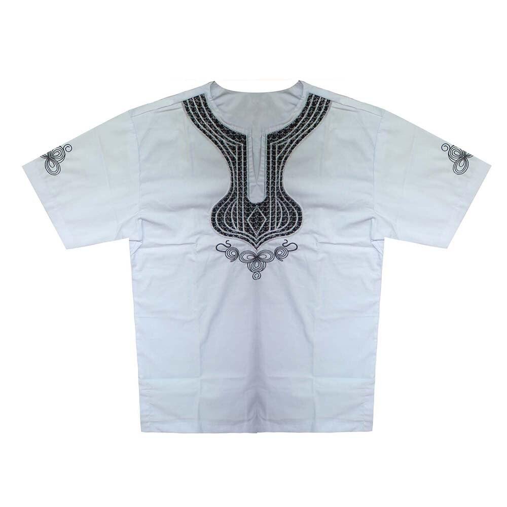 Saree bordado étnico Pakistán Ropa de la india para Dashiki Tops Africana Bazin vestido Kwanzaa camisa Ropa Africana Футболки