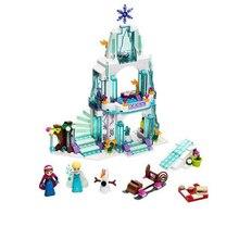 316 Pcs Snow Queen Anna Elsa Ice Castle Building Blocks Princess Anna Model Bricks Gifts Toys Compatible with  Friends