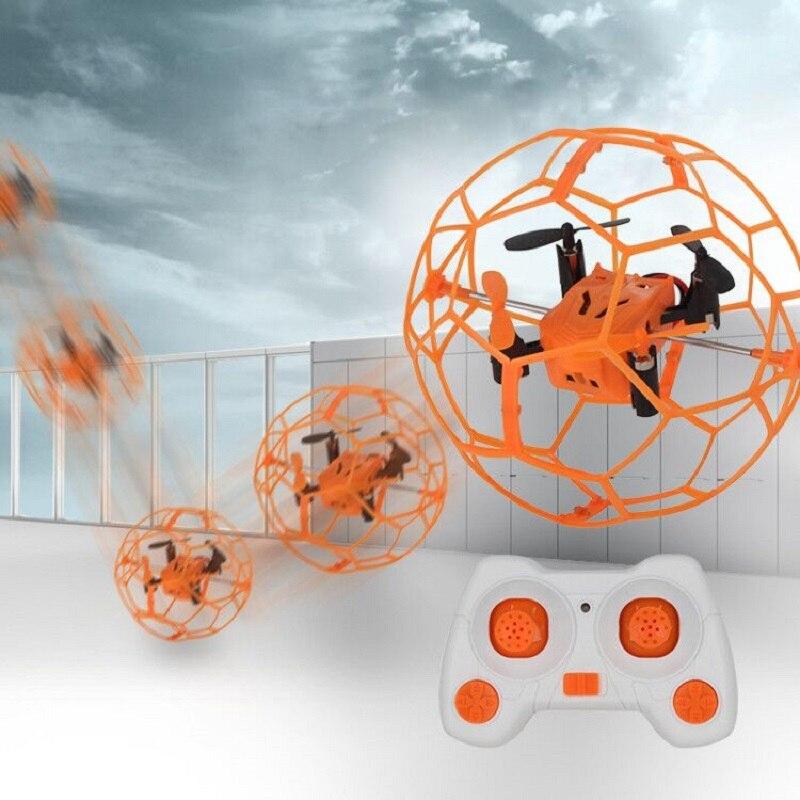 HeLicMax מיני Drone 1340 עם כדורי מגן מעטפת Quadcopter צעצוע Flip RC כדור טוס כדור 3D Flip רולר מקורה מעופף צעצוע