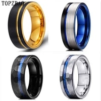 11 styles bevel groove 8mm stainless steel ring fashion accessories mens rings womens rings
