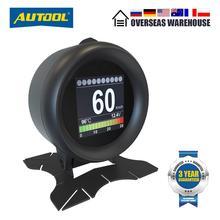 Автомобильные цифровые измерительные приборы AUTOOL X60 OBD2 HUD OBDII с индикатором на лобовом стекле и термометром для измерения расхода топлива и напряжения для автомобиля