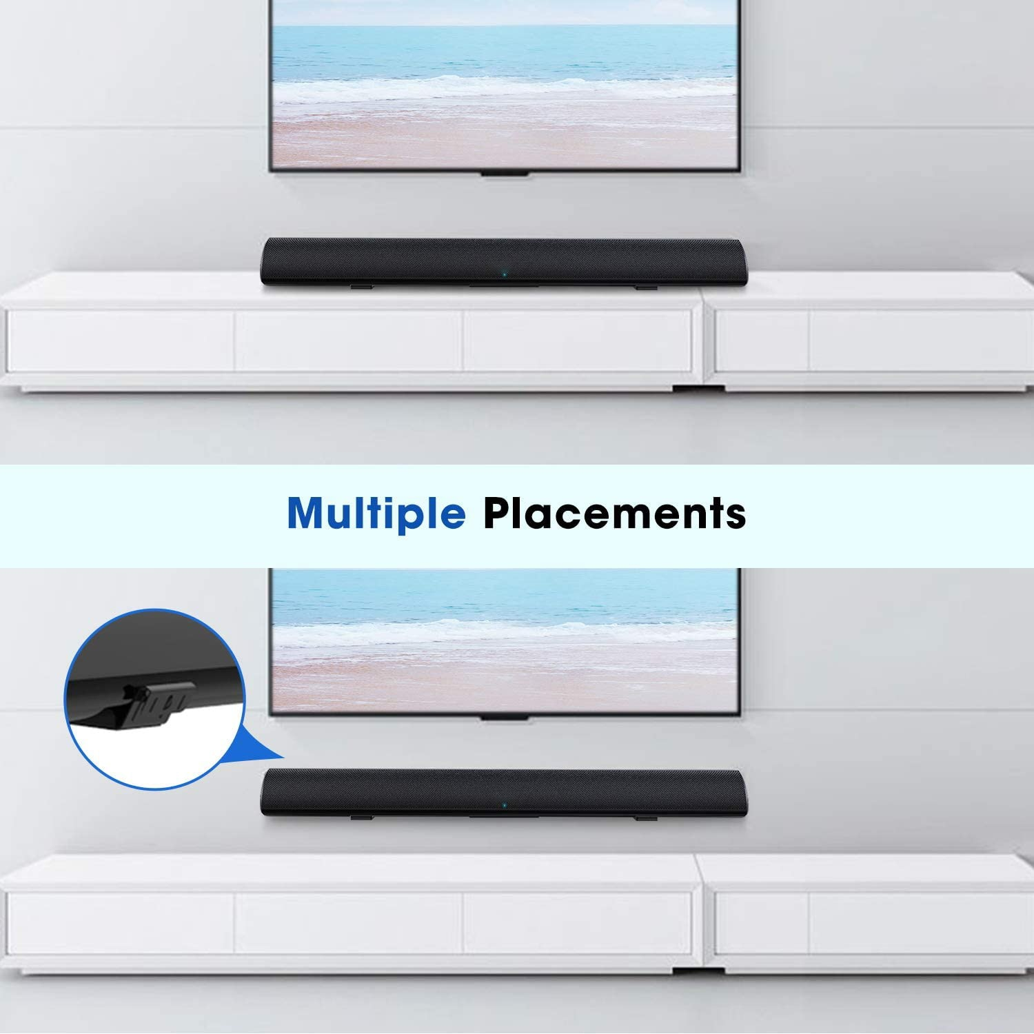 40W TV Soundbar Wireless Bluetooth Speaker 5.0 Sound Bar Dual Bass Wired Home Theater System Subwoofers 3D Bass Stereo Surround enlarge
