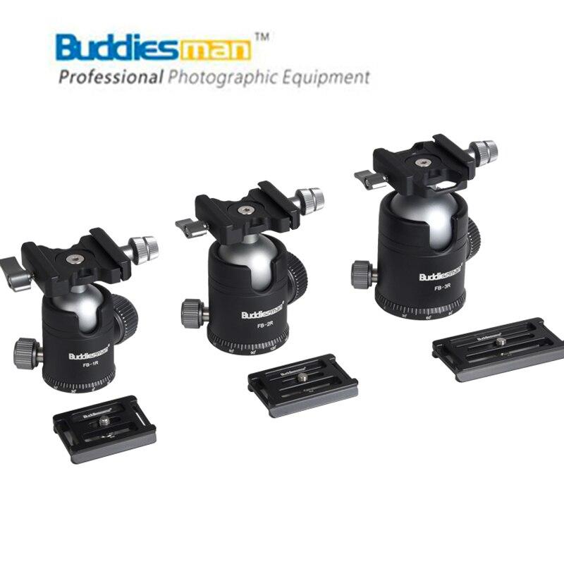 Buddiesel man-كرة بانورامية صغيرة FB Sires ، رأس كروي صغير محمول لكاميرا DSLR ، ضوء FB SUNWAYFOTO LEOFOTO
