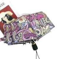 sunscreen anti ultraviolet sun sunshade umbrella windproof women rain umbrella female automatic folding umbrella