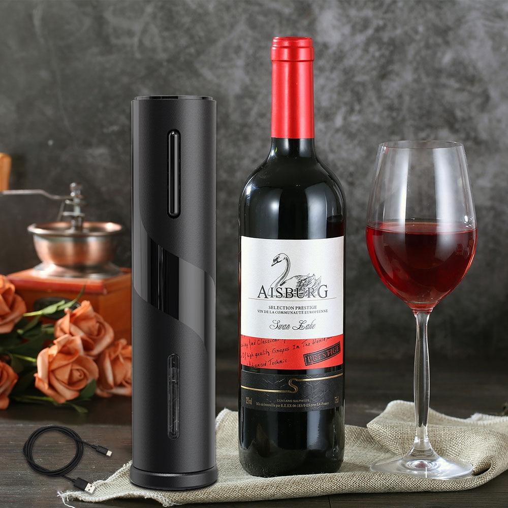Sacacorchos abridor de botellas de vino eléctrico recargable, cortador automático de botellas para abridor de vino tinto, herramienta de cocina, abridor de latas sacacorchos vino sacacorchos electrico