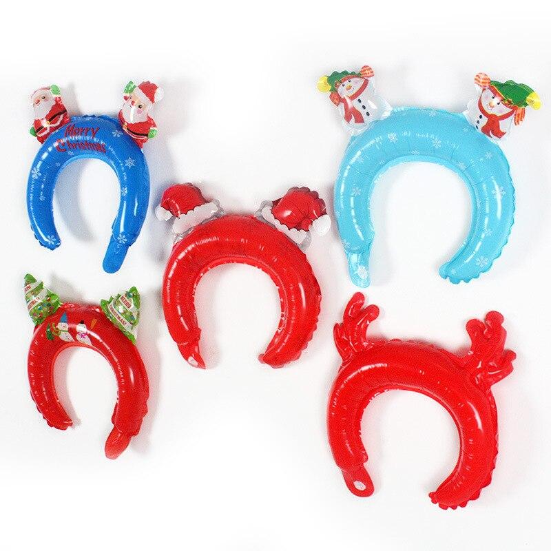 5 pçs halloween natal bandana dos desenhos animados balão de alumínio do feriado festa de crianças brinquedos cosplay bandana balão