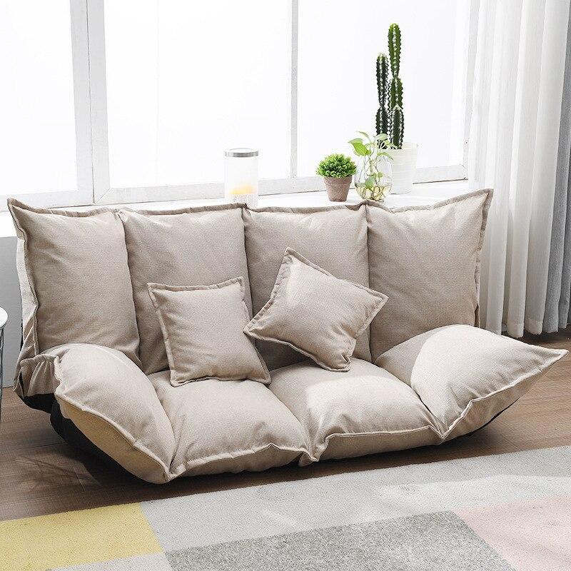 Perezoso sofá neto rojo plegable dormitorio sofá Tatami en el suelo doble...