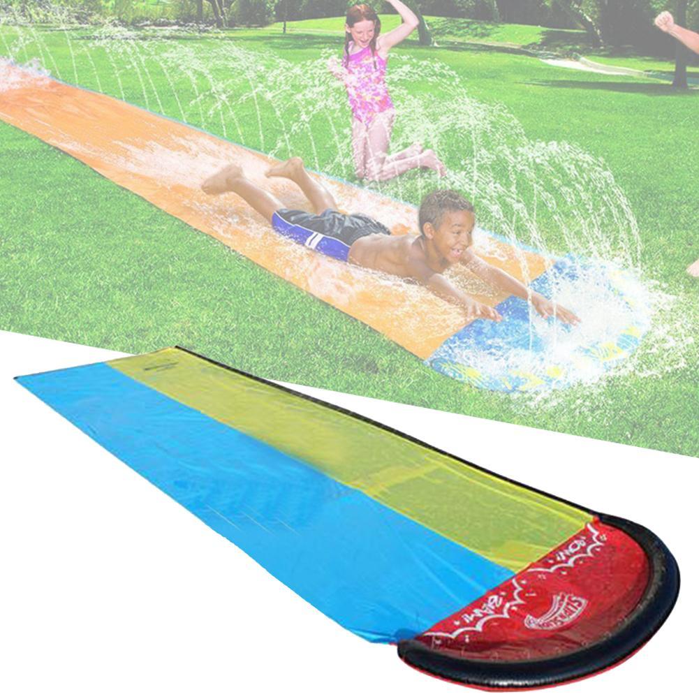 1 قطعة الأطفال المياه الشريحة حديقة سباق مزدوجة المائية الشريحة المياه رذاذ لعبة للصيف ل في الهواء الطلق متعة الحديقة زلاقة مياه حمامات