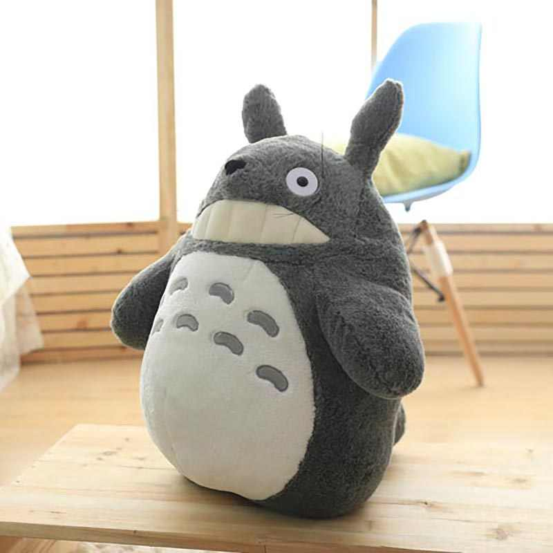 Totoro Plush Toy Cute Plush Cat Japanese Anime Figure Doll Plush Totoro With Lotus Leaf Kids Toys Birthday Christmas Gift Movies Tv Aliexpress