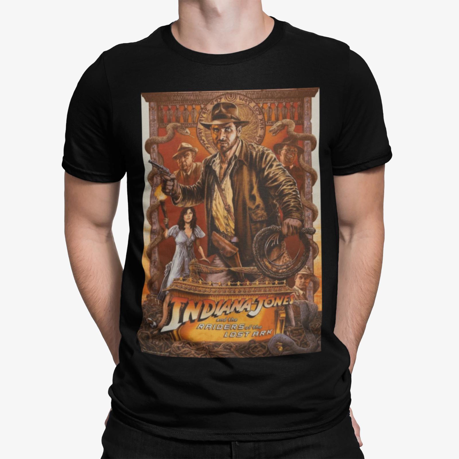 Camiseta de héroe de acción de los Raiders Of Lost Ark Indiana Jones cartel de película 80S 90S